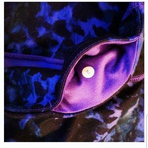 lululemon athletica Pants - Lululemon Wunder Under Iris Purple Black Crop 2